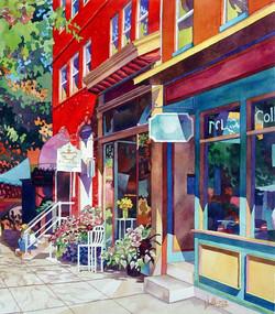 Mick Williams - City Flower (watercolor)
