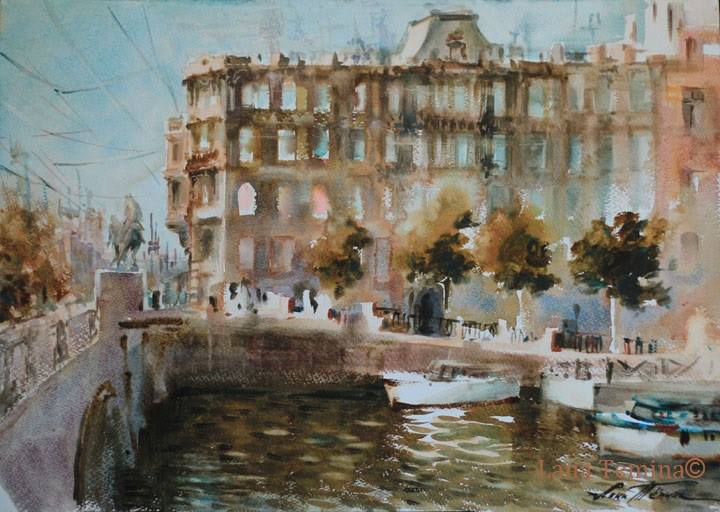 Lana Temina - Autumn in St. Petersburg (watercolor)