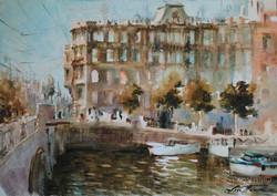 Lana Temina - Autumn in St. Petersburg (watercolor)
