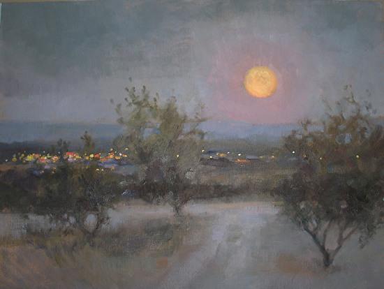 Christine Debrosky - Honey Moon over Cottonwood.jpg
