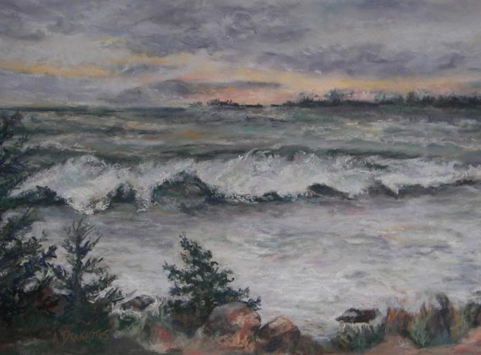 Alicia Drakiotes - Chasing the Storm (pastel)