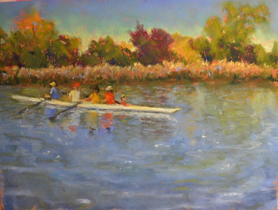 Denise Vitollo - Out for a Row (pastel)
