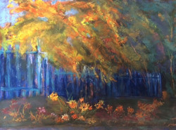 Suzanne Leslie - French Fall Scene