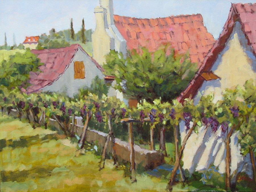 Connie Winters - Grape Arbor (giclee print)