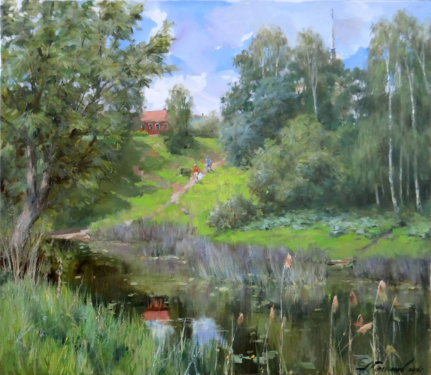 Azat Galimov - In the Thickets of Reeds. River Kashinka.
