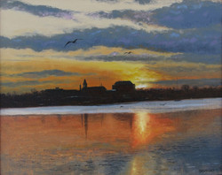 Bruce Newman - Evening on the River