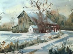 Dominik Baricevic - Lonely Winter Barn