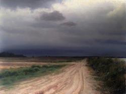 Joseph McGurl - Fields Along the River (plein air)