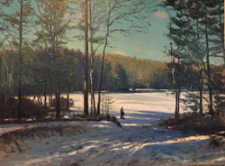 Richard Rosenblatt - Alone in the Clearing (oil)