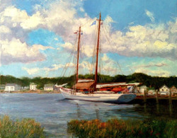 Blaney Harris - Moored on the Mystic River