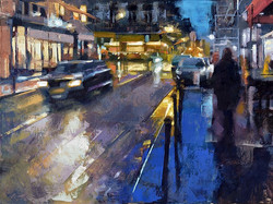 Desmond O'Hagan - The 9th Arrondissement at Night, Paris