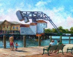 Blaney Harris - View From Mystic River Park (plein air)
