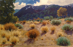 Richard E. Gallego - Approach To The Edge (gouache)