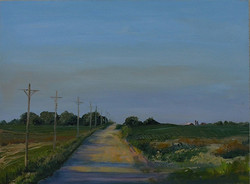 Nickie Barbee - Country Road at Dusk, Iowa