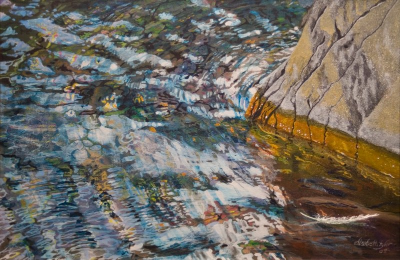 Elizabeth Tyler - Rock in Water (acrylic)
