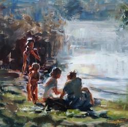 Judy Gelfert - Picnic at the Lake