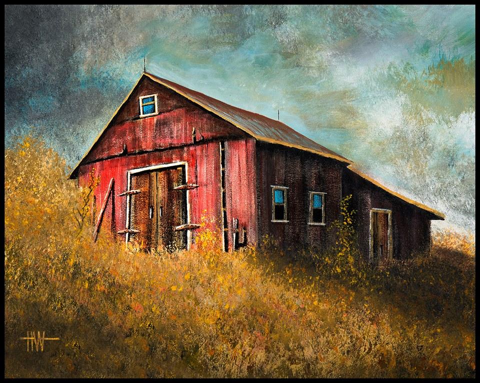 Hub Willson - Barn on a Hill