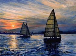 Eileen Patten Oliver - Casco Bay Sunset