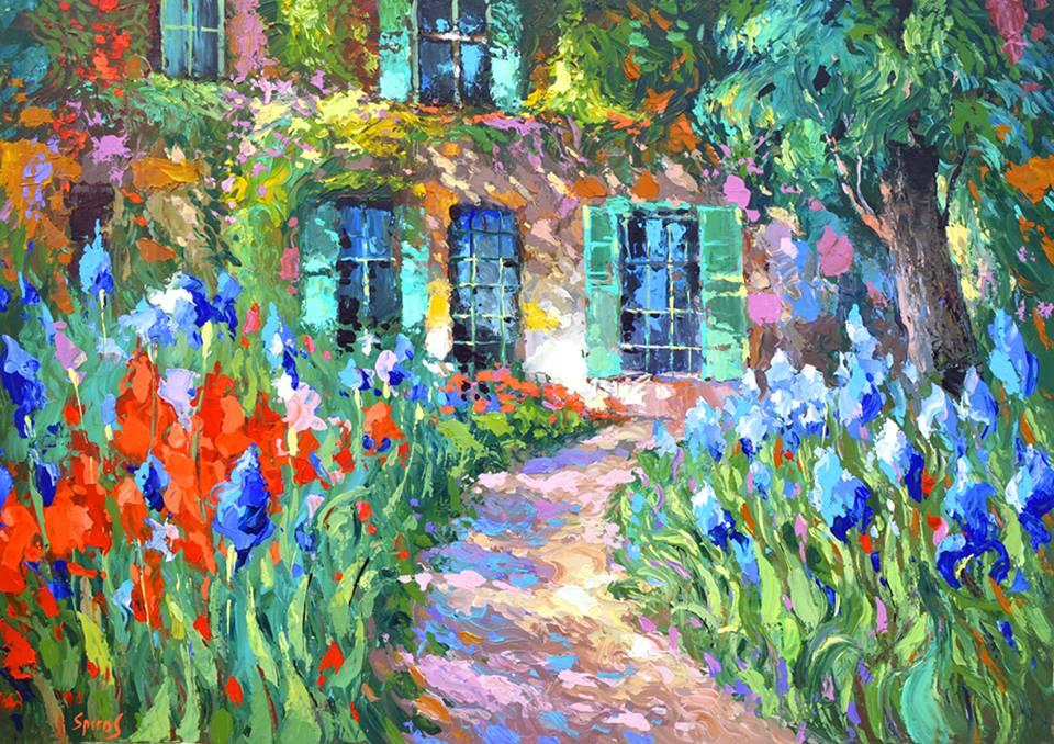 Dmitry Spiros - Irises near the House