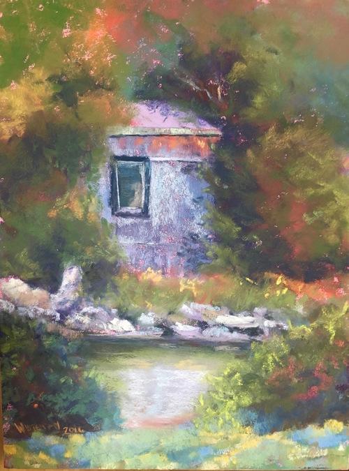 Susan Whiteman - Riverwalk, Saranac Lake, NY (plein air)