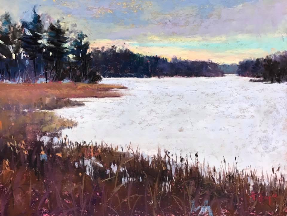 Takeyce Walter - Winter on Stony Creek (pastel)