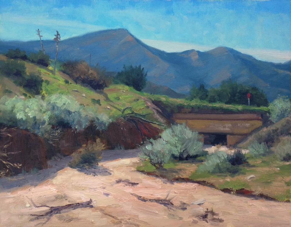 Richard E. Gallego - Three Days After The Rains (plein air)