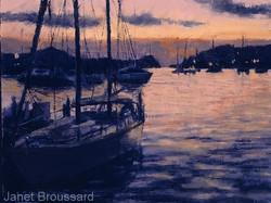 Janet Broussard - Harbor Sunset