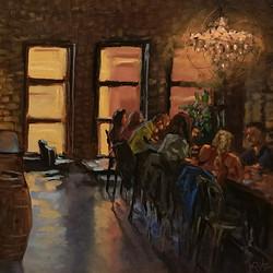 Philip Alexander Carlton - An Evening at Vikre (plein air)