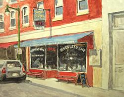 Ralph Parker - Rockland Cafe (gouache)