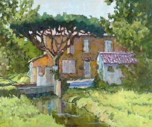 Connie Winters - Canal in Provence (giclee print)