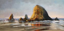 Linda Wilder - Rocks At Cannon Beach