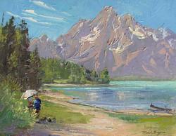 Michele Byrne - Painter at Mount Moran
