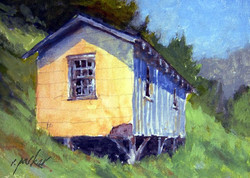 Ralph Parker - Virginia Homestead (gouache)