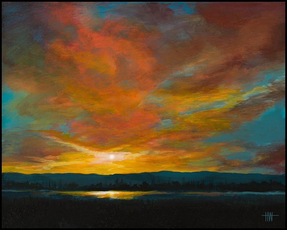 Hub Willson - Blue Mt. Sunset