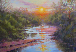 Donna H. Branson - Black Bear Creek at Sunset