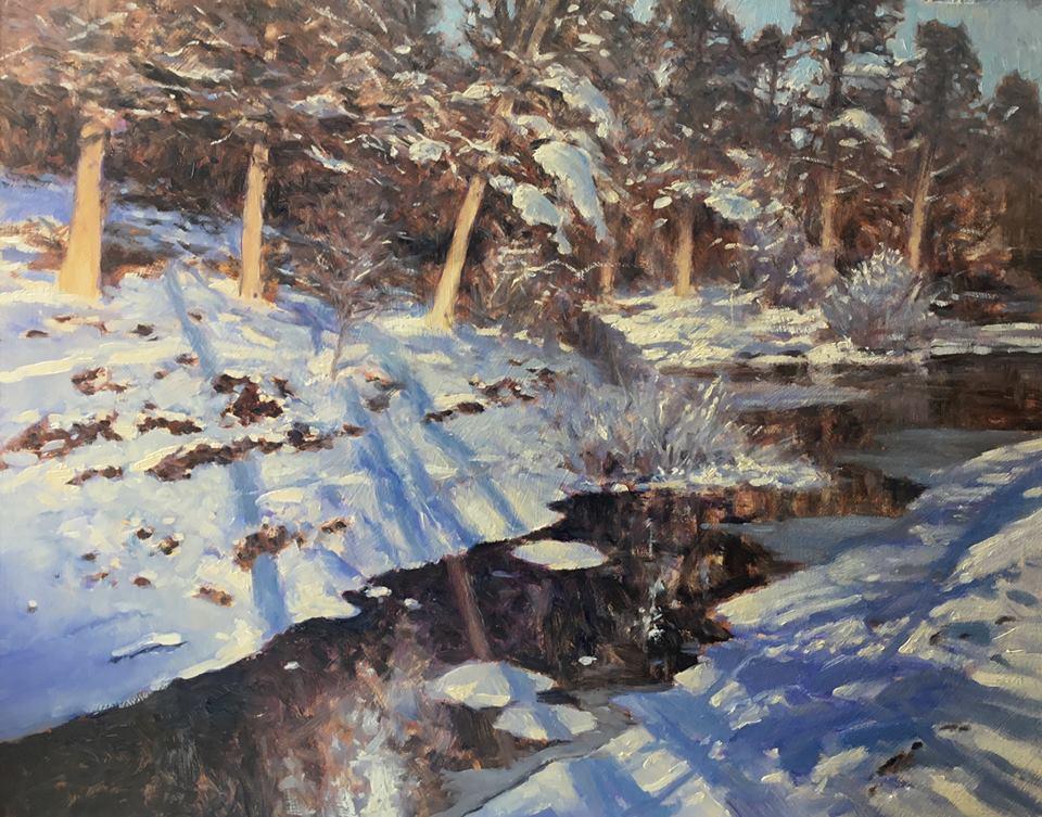 David Deamer - Low Winter Light, Basingstoke Canal