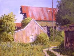 Ralph Parker - Near Centerburg (gouache)