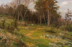 Mary R. Pettis - Cedars in Springtime