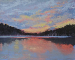 Susan Whiteman - Lake Colby Sunset, Day is Done