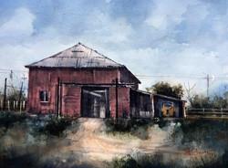 Tim Oliver - Barn on the -Y- Ranch (plein air)