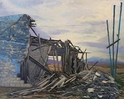 Philip Alexander Carlton - Death of a Mural (plein air)