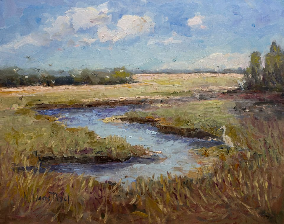 Nancy Woods Daniel - Marshland at Harris Neck Wildlife Refuge