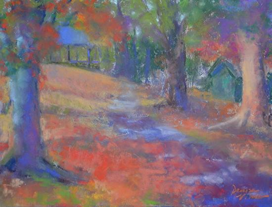 Denise Vitollo - Marshall Square Park (pastel)