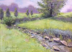 Brent Seevers - Down in the Creek (plein air pastel)