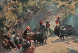 Lana Temina - Bulgarian landscape (watercolor)
