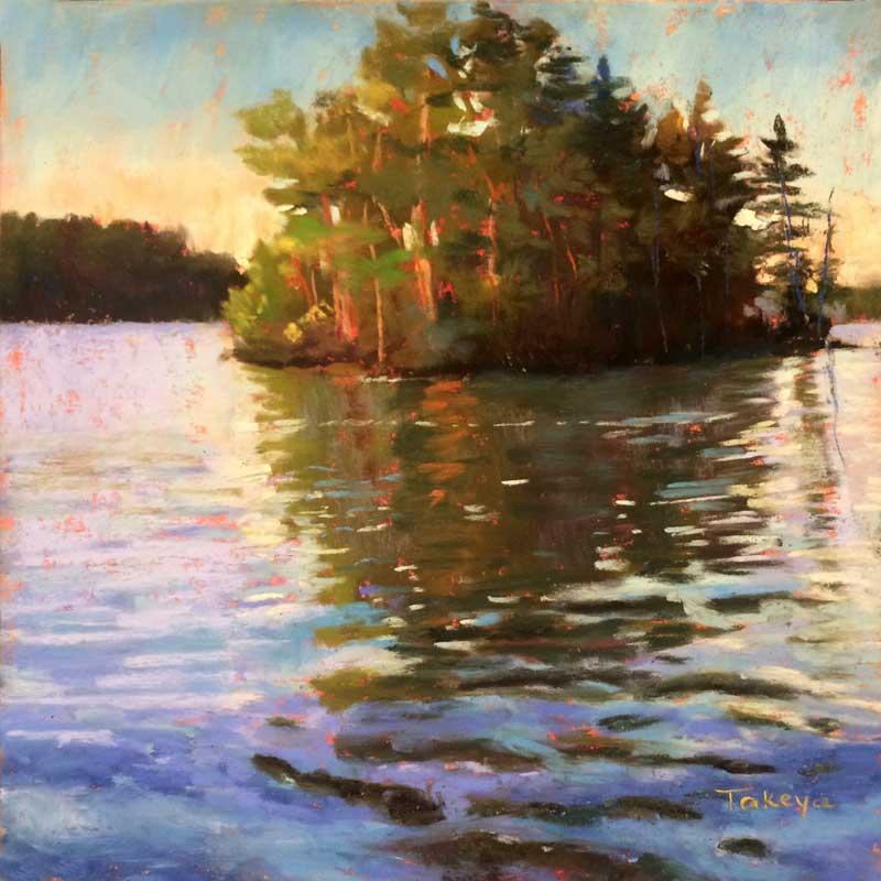 Takeyce Walter - Evening Light on Lake George