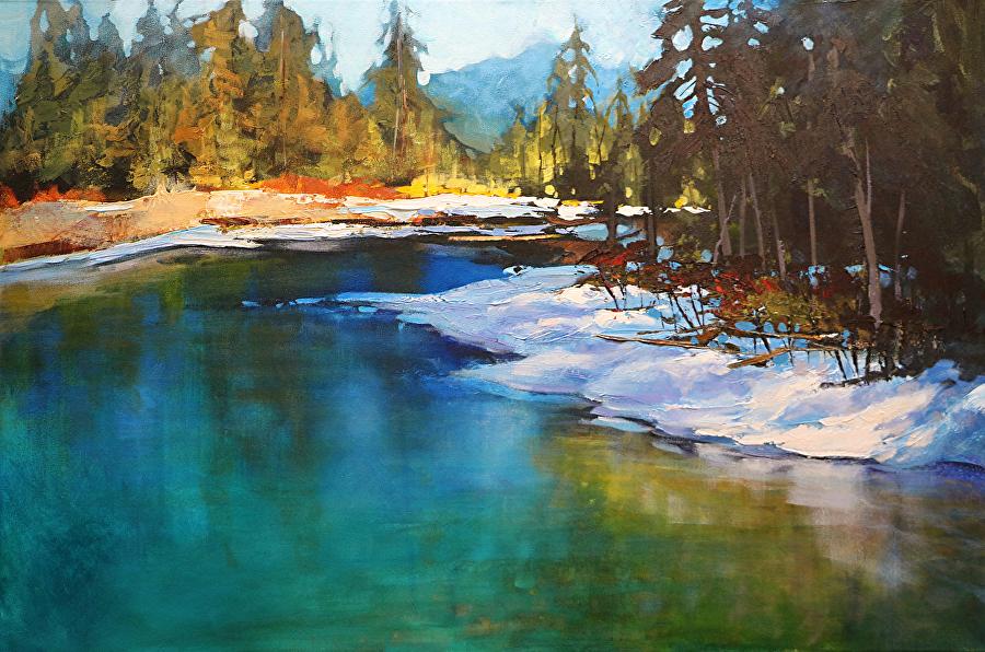 Linda Wilder - Calming Echo Creek, Banff