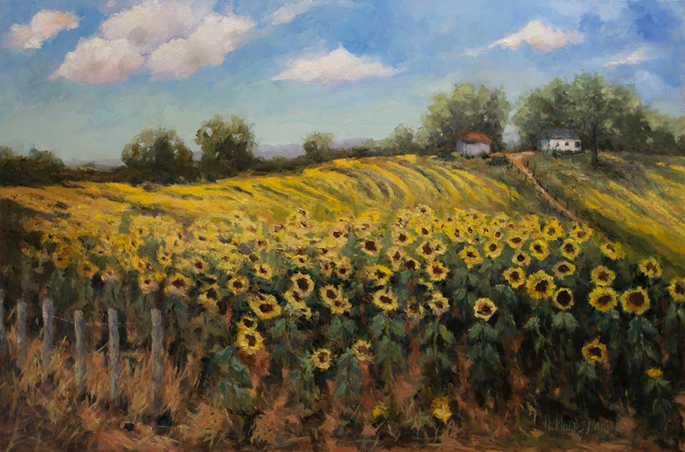 Nancy Woods Daniel - Mahan Gap Sunflower Field