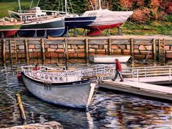 Eileen Patten Oliver - End of Season, Rockport, Maine