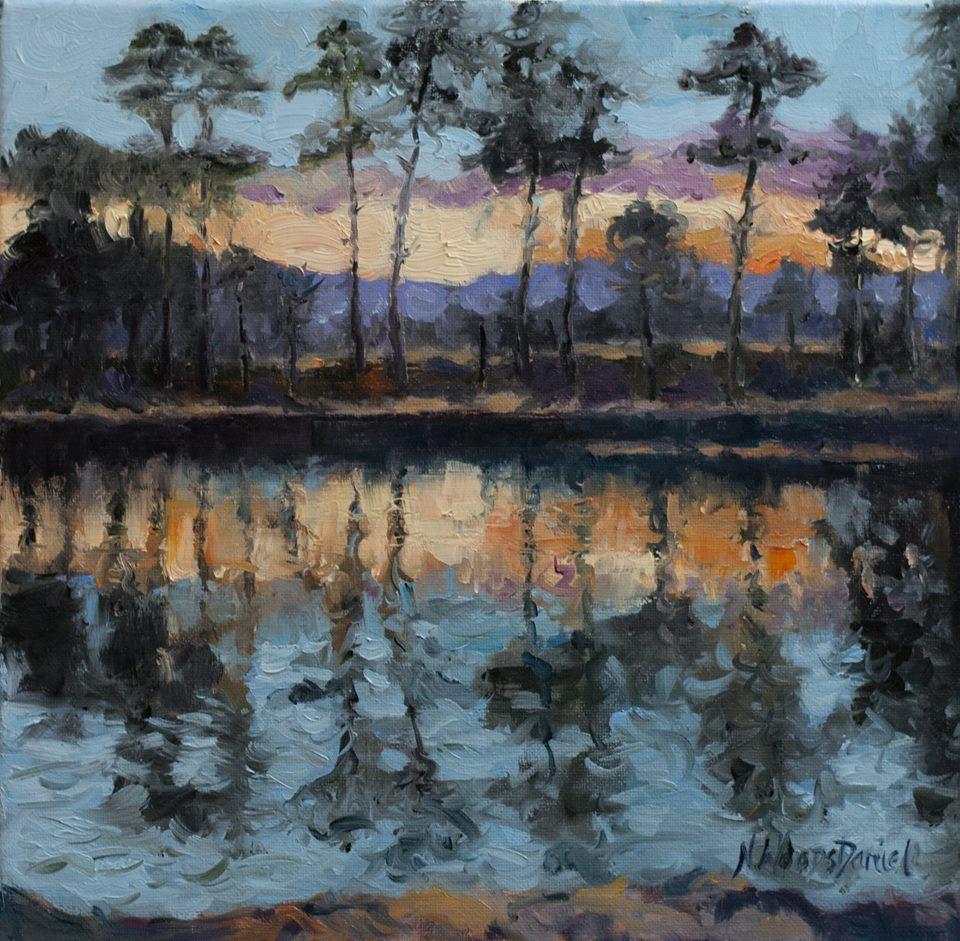 Nancy Woods Daniel - Last Light of the Day - Harrison Bay